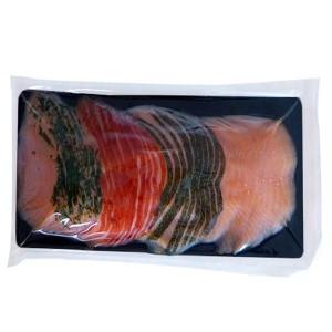 Plaque à saumon dorée et noire 150x200