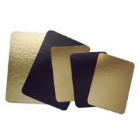 Plaque à saumon dorée et noire 200x600