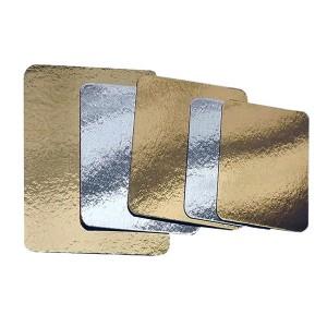 Plaque à saumon dorée argentée 200x300