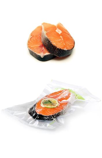 Saumon frais sous vide