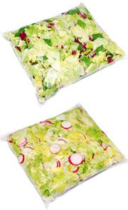 Salade sous vide avec injection de gaz